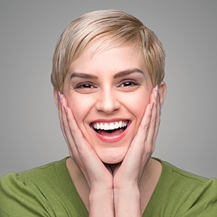 Woman with a gorgeous smile